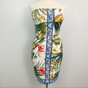 Cache Sleeve less Tube Dress Tropical Mini Dress L